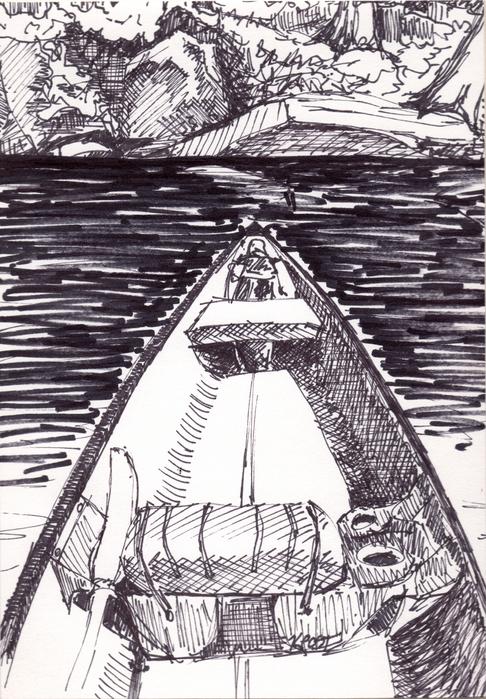 Canoeing in Copps Bay