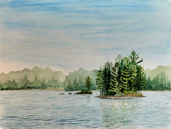 Islands of Rathbun Lake