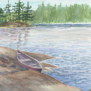 Old Canoe Resting on McCrae Lake
