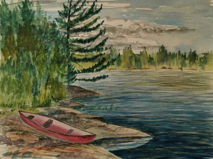 Old canoe on Rathbun Lake