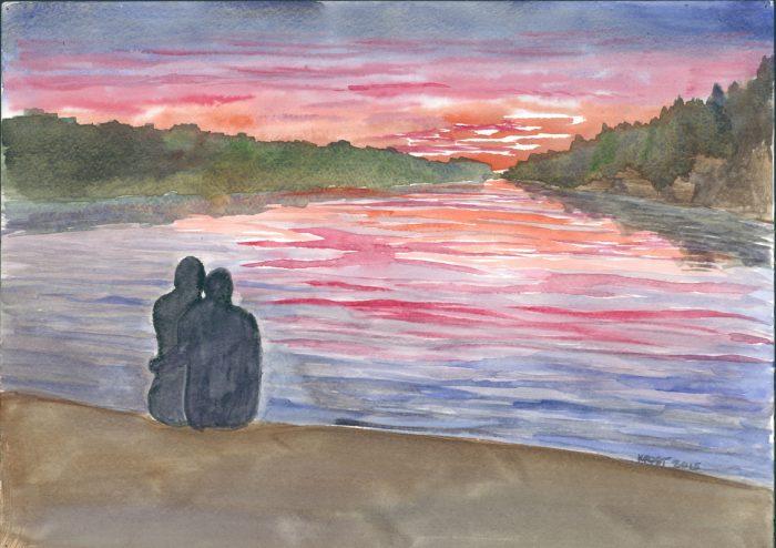 Sunset Over Six Mile Lake